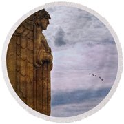 Guardian Of Hope Round Beach Towel