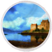 Guardian Of The Loch Round Beach Towel