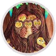 Guardians Of The Forest Round Beach Towel