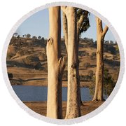 Guardians Of The Lake Round Beach Towel