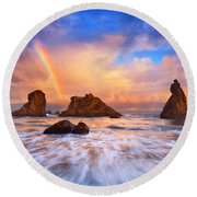 Guardians Of The Sea Round Beach Towel by Darren  White