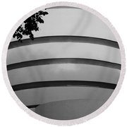Guggenheim In The Round In Black And White Round Beach Towel