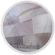 Guggenheim Museum New York 2004 Round Beach Towel