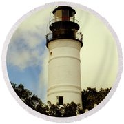 Guiding Light Of Key West Round Beach Towel