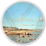 Guigou's Washerwomen On The Banks Of The Durance Round Beach Towel