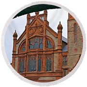Guildhall In Londonderry Northern Ireland Round Beach Towel