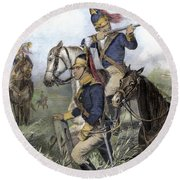 Guilford Courthouse, 1781 Round Beach Towel