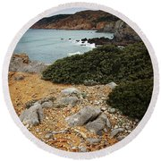Guincho Cliffs Round Beach Towel
