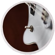 Guitar Abstract Round Beach Towel