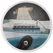 Guitar Art Round Beach Towel