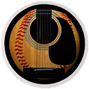 Guitar Baseball Square Round Beach Towel by Andee Design