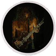 Guitar In The Zone Round Beach Towel