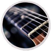 Guitar Strings Round Beach Towel by Stelios Kleanthous