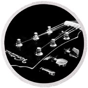 Guitar Ventura Head Stock 1 Round Beach Towel