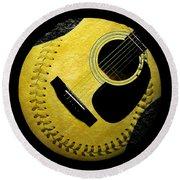 Guitar Yellow Baseball Square Round Beach Towel