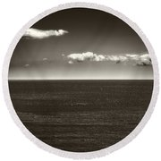 Gulf Of St Lawrence With Clouds Round Beach Towel