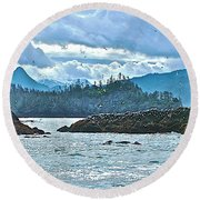Gull Island Rookeries In Kachemak Bay-alaska Round Beach Towel