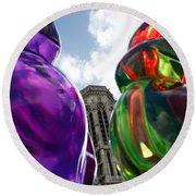 Gummy Bears In Paris Round Beach Towel