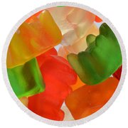 Gummy Bears Round Beach Towel