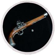 Gun - Musket With Musket Ball Round Beach Towel