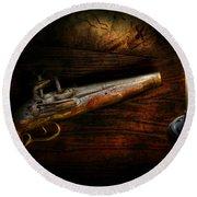 Gun - Pistol - Romance Of Pirateering Round Beach Towel
