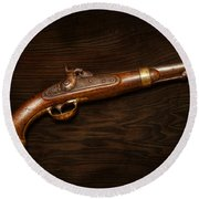 Gun - Us Pistol Model 1842 Round Beach Towel