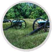 Guns Of Vicksburg Round Beach Towel