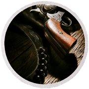 Gunslinger Tool Round Beach Towel