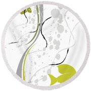 Abstraction 074 Marucii Round Beach Towel