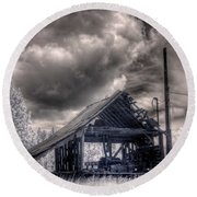 Gypsy Bay Road Lumber Mill 3 Round Beach Towel