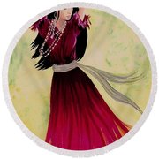 Gypsy Dancer Round Beach Towel