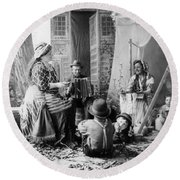 Gypsyies, C1902 Round Beach Towel