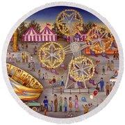 Gyro At The Carnival Round Beach Towel
