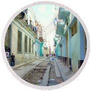 Habana Street Round Beach Towel