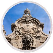 Habsburg Gate Details In Budapest Round Beach Towel