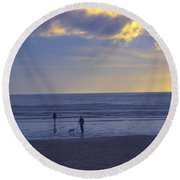 Haceta Head Beach 2 Round Beach Towel