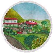 Hacienda Gripinas Old Coffee Plantation Round Beach Towel
