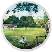 Hadlow Cricket Club Round Beach Towel