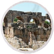 Hadrian's Baths Round Beach Towel