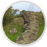 Hadrian's Wall Near Walltown Quarry Round Beach Towel