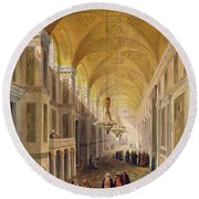 Haghia Sophia, Plate 2 The Narthex Round Beach Towel