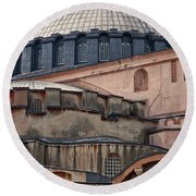 Hagia Sofia Close Up Round Beach Towel