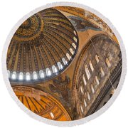 Hagia Sofia Interior 04 Round Beach Towel