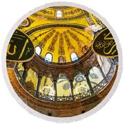 Hagia Sofia Interior 07 Round Beach Towel
