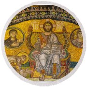 Hagia Sofia Mosaic 04 Round Beach Towel