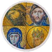 Hagia Sofia Mosaics Round Beach Towel