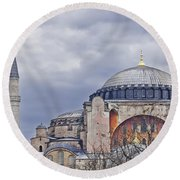 Hagia Sophia 05 Round Beach Towel