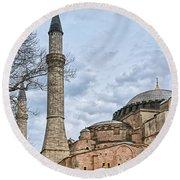 Hagia Sophia 07 Round Beach Towel