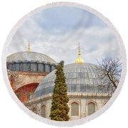 Hagia Sophia 11 Round Beach Towel