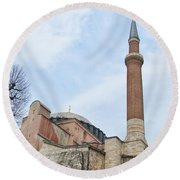 Hagia Sophia 14 Round Beach Towel